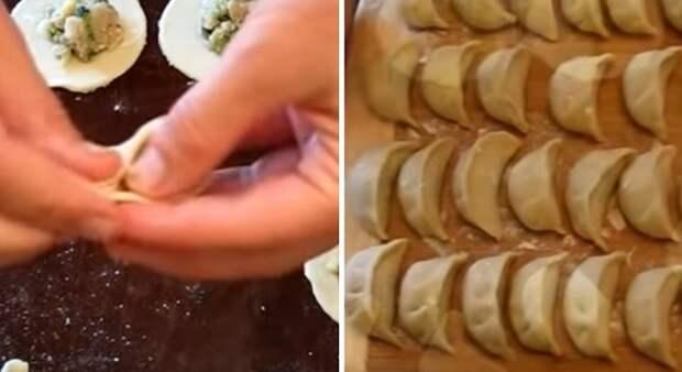 китайские пельмени с капустой и мясом