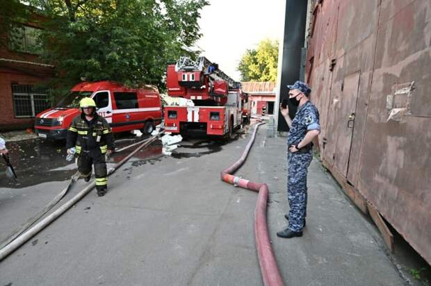 Пожар произошёл в «красной зоне» больницы в Воронежской области