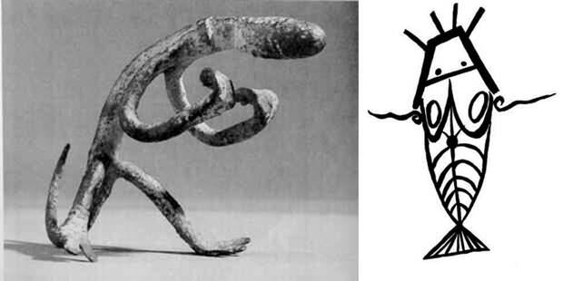Изображение «инопланетян» в культуре догонов (Иллюстрация из открытых источников)