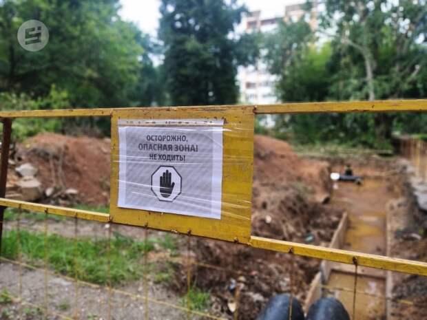 Энергетики попросили жителей Ижевска не ломать ограждения на месте ремонта теплосетей