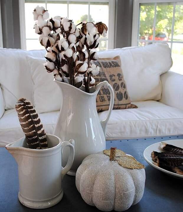 Стильный осенний декор комнаты своими руками