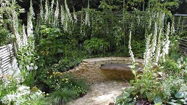 Белый цвет в дизайне сада