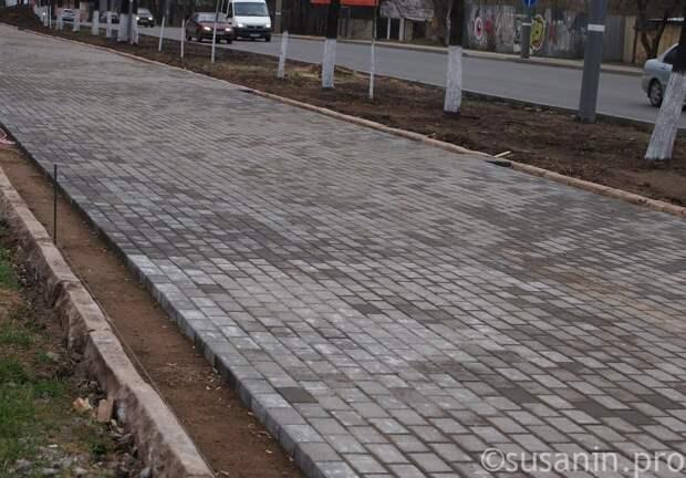 Тротуары в Ижевске планируют делать из брусчатки
