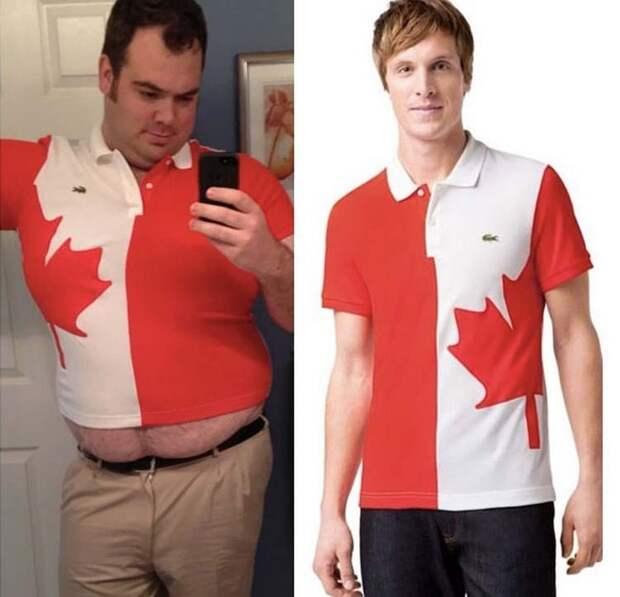 Заказывал огромную футболку с канадским флагом, а получил топик заказ, интернет, ожидание и реальность, прикол