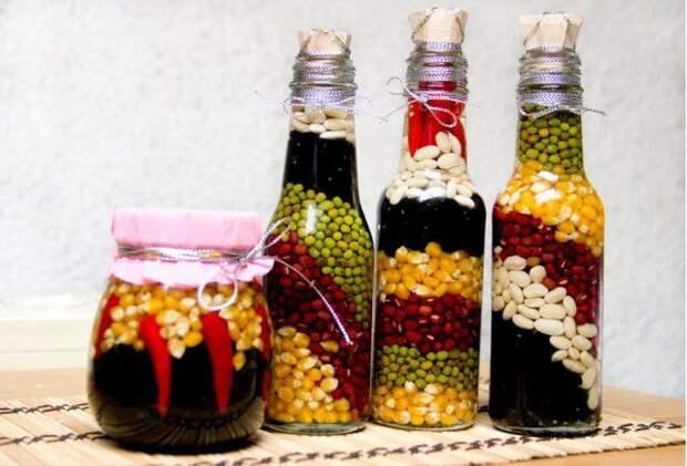 Украшение бутылок своими руками: досуг с пользой для интерьера