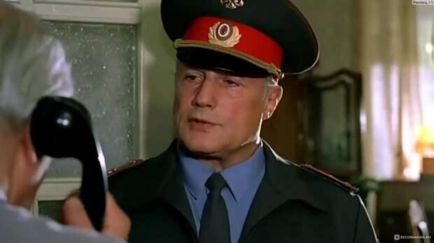 """Высокопоставленный  милицейский чиновник. Кадр из фильма """" Ворошиловский стрелок""""."""