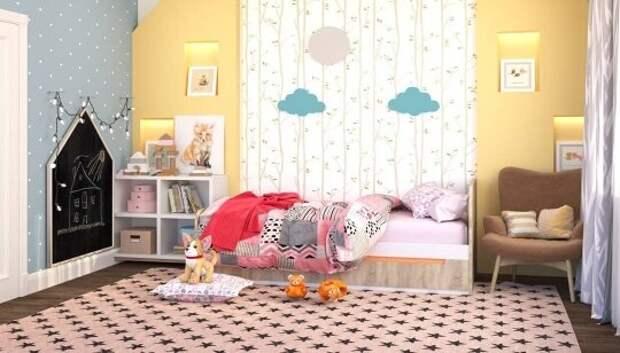 Дизайн детской комнаты – приемы зонирования в интерьере