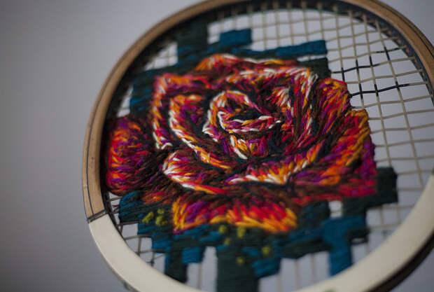 Зона Творчества. Вышивка на теннисных ракетках
