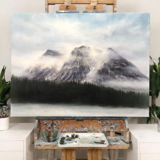 Мечтательные и мистические пейзажи горной Британской Колумбии, нарисованные от руки