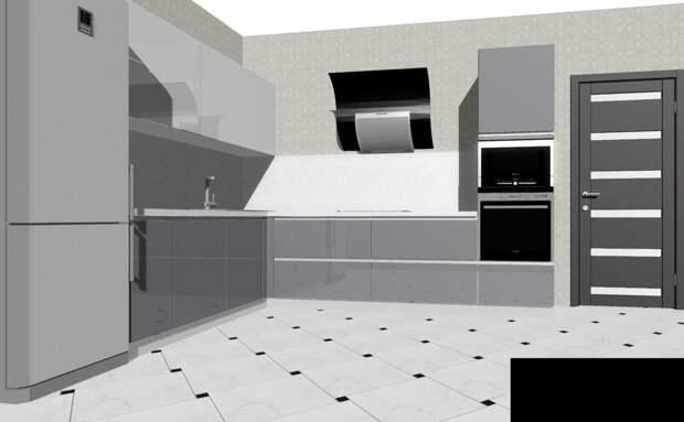 """Кухня """"недизайнера"""". Часть 6. Фартук из крупноформатного керамогранита"""