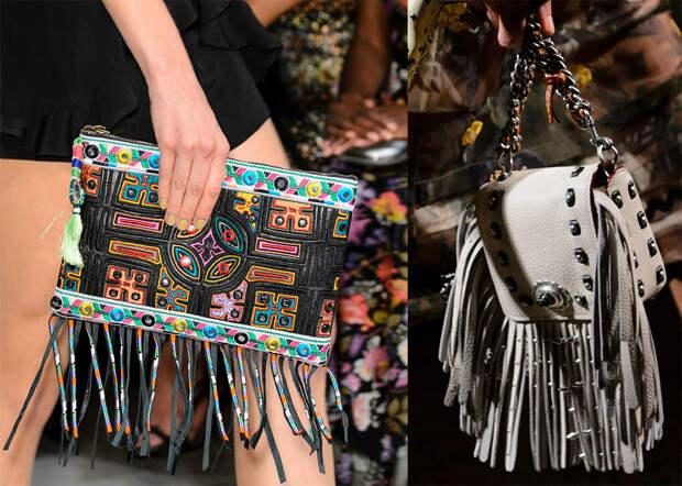 Кожаные сумки с бахромой 2017