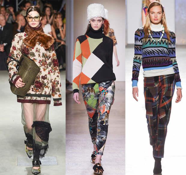 Женские свитера с орнаментами