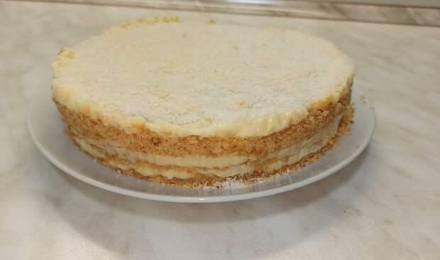 Без духовки и без печенья!! Нежный торт ПЛОМБИР без выпечки