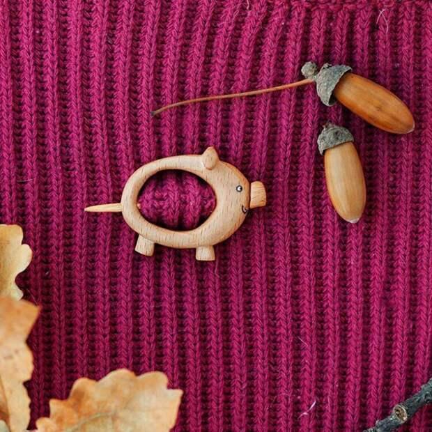 Деревянные броши Olha_toys