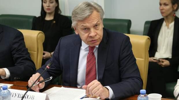 """Пушков: Байден пытается """"застолбить"""" выгодные позиции перед встречей с Путиным"""
