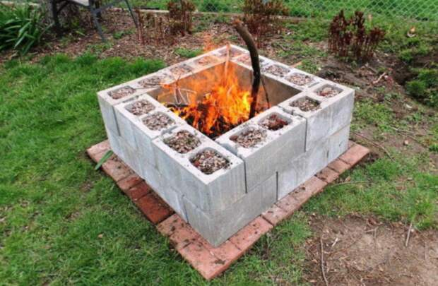 10 идей, как оформить место для костра