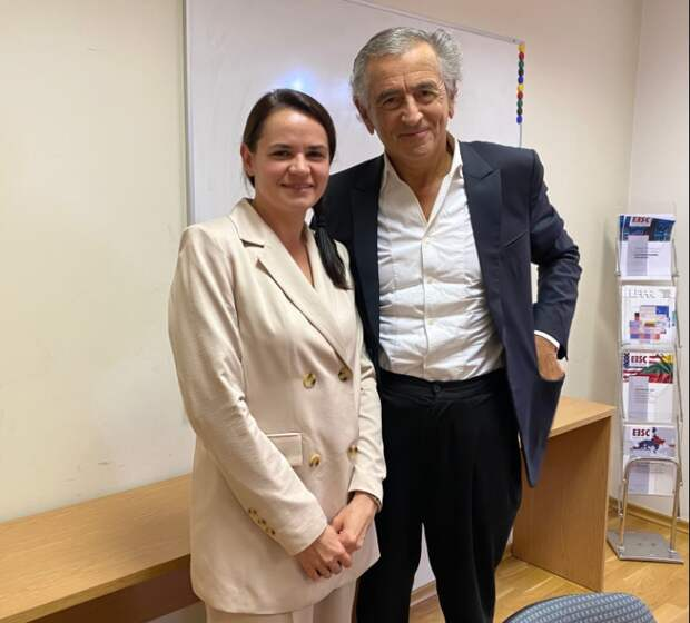 Тихановская и Бернар Анри Леви