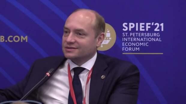 Выступление Александра Галушки на ПМЭФ-2021