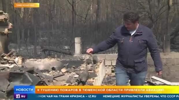 Ситуация с лесными пожарами в Тюменской области стала критической