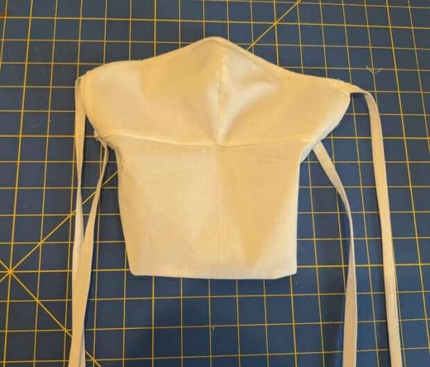 выкройка мужской медицинской маски