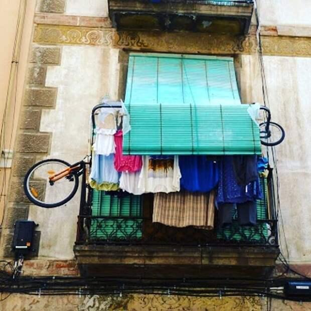Думали, что это Россия или Украина? А это Барселона балкон, балконы, на балконе, прикол, че за хрень на балконе?, юмор