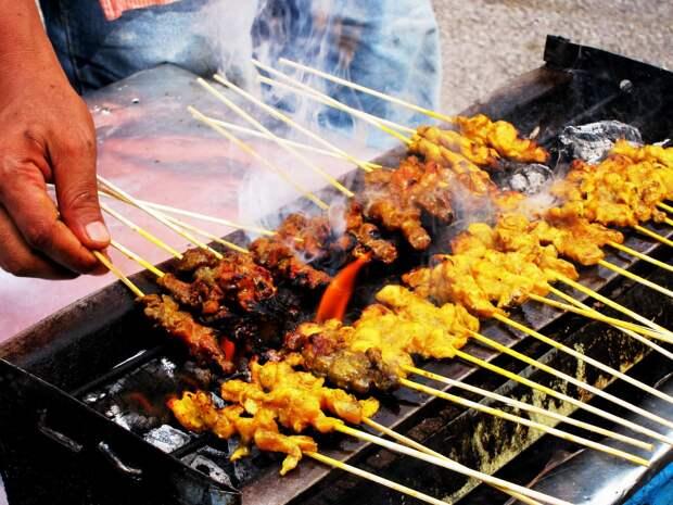 Сатаи (Тайланд, Малайзия, Сингапур, Индонезия) в мире, еда, шашлык