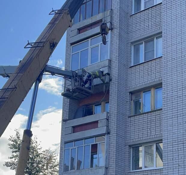 Рушилась плита балкона
