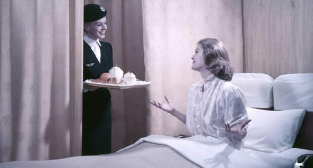 Завтрак в постель: как выглядел первый класс авиакомпании Air France в 1957году