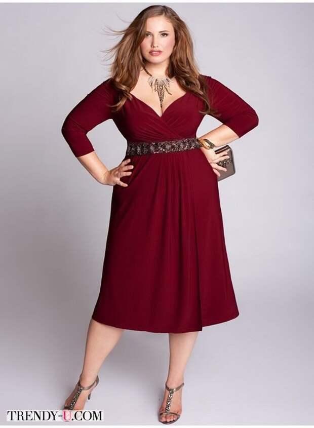 Модное нарядное платье цвета марсала
