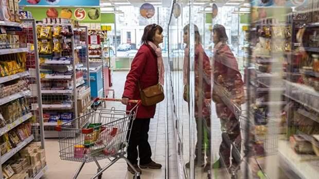 Определены траты россиян на продукты питания