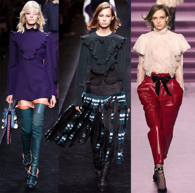 Оборки на одежде осень-зима 2016-2017