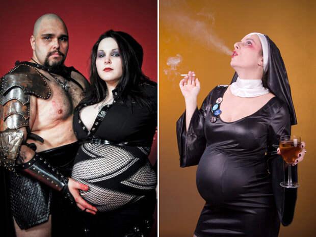 Очень странные фотосессии беременных женщин