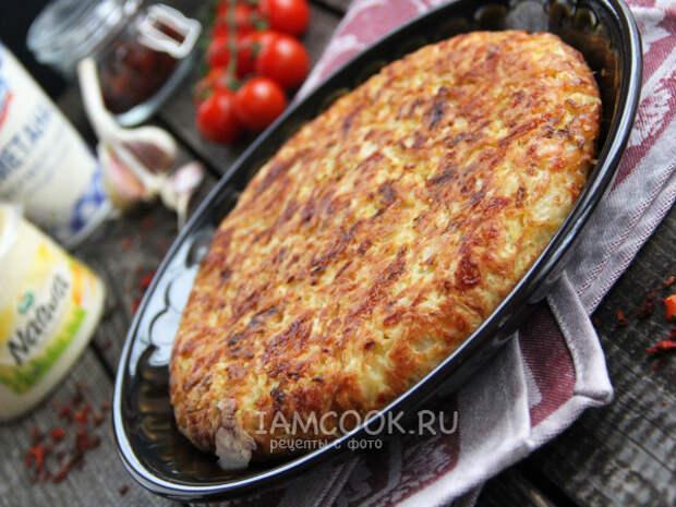 Капустная запеканка с сыром на сковороде — рецепт с фото пошагово