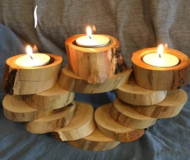 дизайн деревянных спилов