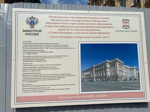 Петербуржцев возмутила очередная отсрочка по реконструкции Консерватории
