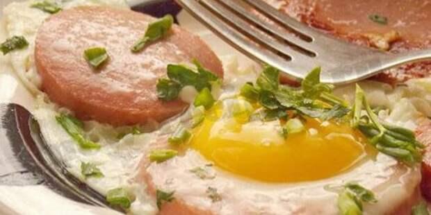 советские рецепты: Глазунья с варёной колбасой