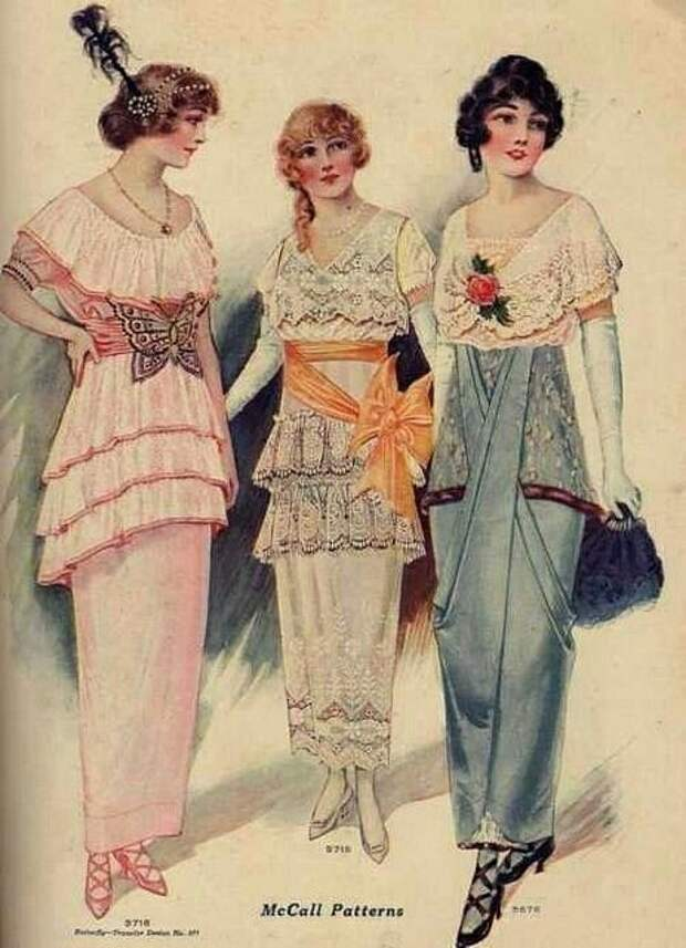 """""""Хромые юбки"""" в истории моды"""