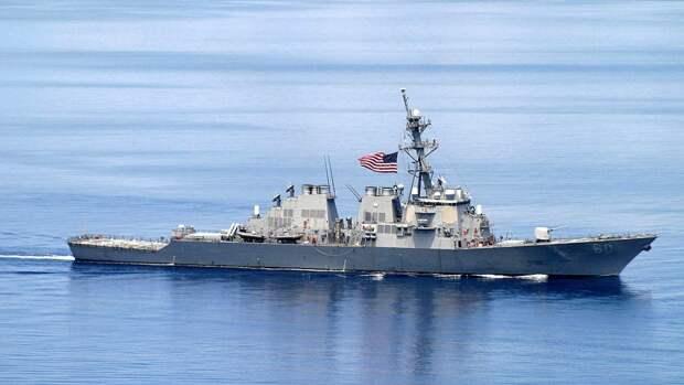 Американский эсминец вышел из акватории Черного моря
