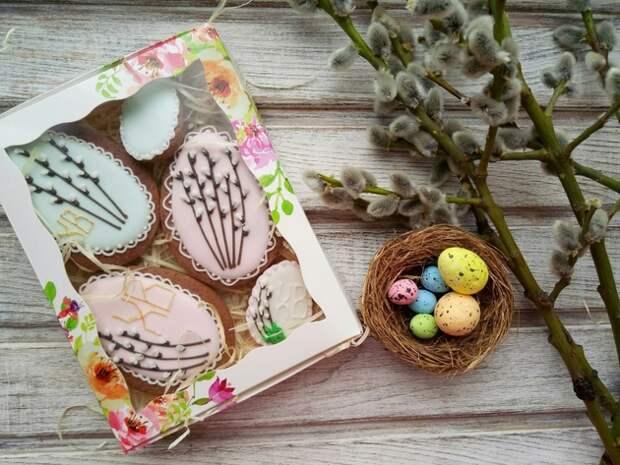 пасхальное печенье в коробке
