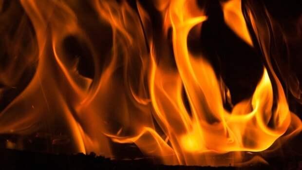 Пожар в пассажирском автобусе в Москве попал на видео
