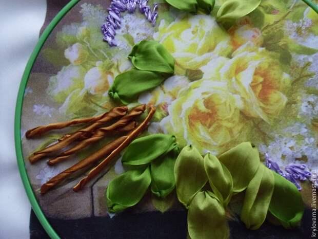 Нежная сирень: мастер-класс по вышивке лентами