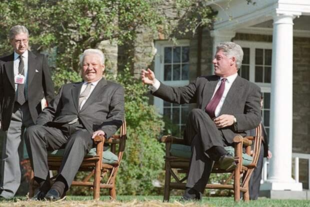 Борис Ельцин с Президентом Америки Биллом Клинтоном | ИТАР-ТАСС