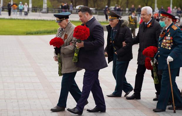 Губернатор отдаль дань памяти погибшим в Великой Отечественной войне возложив цветы к стеле воинской славы и Обелиску Победы