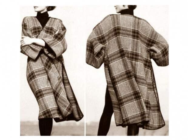 Выкройка ретро - накидки ака пальто