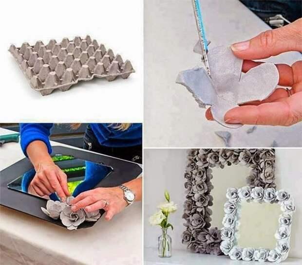6. Коробка- очень пластичный материал, она легко поддается любым изменениям вторая жизнь старых вещей, интересно, контейнер из-под яиц, своими руками, сделай сам, фото