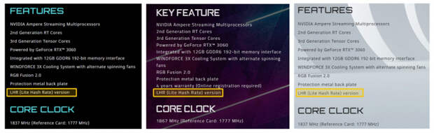 Gigabyte начала выпускать GeForce RTX 3060 с аппаратным ограничителем майнинга