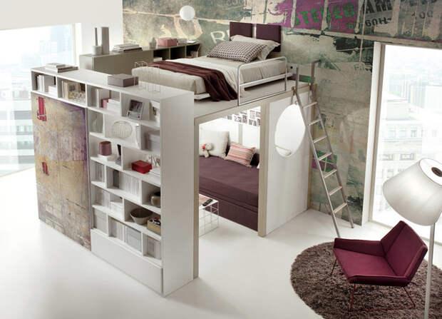 Отличный «жилой модуль», в котором на небольшой площади умещается практически всё, что нужно двухъярусная кровать, дизайн, идеи, маленькая квартира