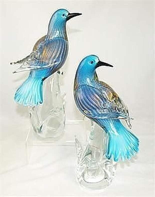 Какая красота! Птицы из стекла.