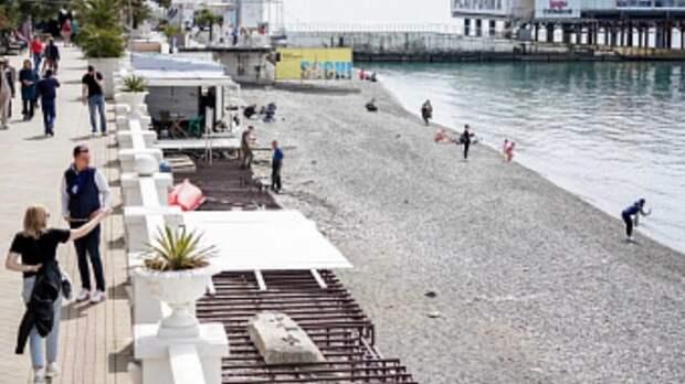 Центральные пляжи и набережные откроют в Сочи уже 1 мая