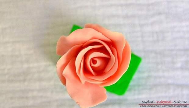 Ободки из полимерной глины с бутонами розм - мастер-класс и ободок с цветами. Фото №6